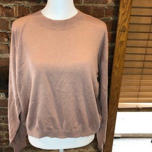 BP. Easy Drop Shoulder Slouchy Sweater Pink